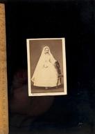 Photographie CDV : Communiante C.1860 / Atelier Peintre Photographe MICHELEZ 45 Rue Jacob PARIS - Anonymous Persons