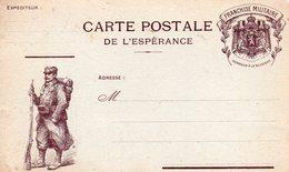 """CP De L'Espérance- - """" Nos Vaillants Belges """"- - Marcophilie (Lettres)"""