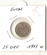 SUEDE --  25 ORE 1917 W  ( Arg. ) - Suède