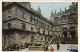 """ESPAGNE.  SANTIGO DE COMPOSTELLE..ANIMATION PLACE DES """" PLATERIAS """"   ANNÉE 1961 - Santiago De Compostela"""
