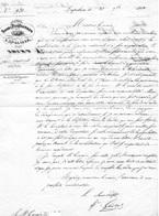 """Document- Sous Préfecture De LAPALISSE-Allier-  """"Garde National""""- - Documents Historiques"""