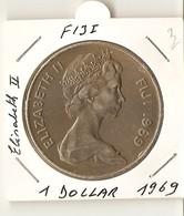 FIJI - 1 DOLLAR 1969 -Elisabeth II - Figi