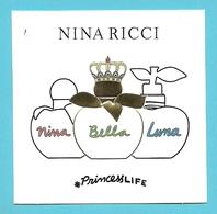 NINA RICCI / Nina / Bella /Luna   (lot Grijs 38) - Cartes Parfumées