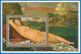 Ajman 1971 Year, Used Block - Adschman