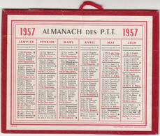 ALMANACH DES PTT 1957 - 13,5x10,5 Cms - TRES BON ETAT - Calendriers