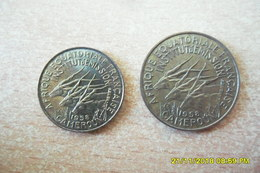 """Lot De Deux Monnaies """"Cameroun"""" 5 Francs Et 10 Francs 1958 En TTB++ - Cameroon"""
