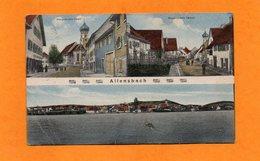 CPA DE 1921 - ALLEMAGNE - ALLENSBACH -HAUPTSTRASSE WEST - OST - Allemagne