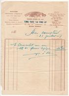 """Indochine - Facture """"Au Dragon D'Or"""" Orfèvrerie Lunetterie - Hanoi 1928 - Factures & Documents Commerciaux"""