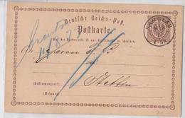 NAMYSLOW POLSKA NAMSLAU DEUTSCHE POLEN POSTKARTE 09.08.1873 ENTIER POLOGNE POLAND POSTCARD - Lettres & Documents