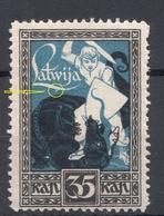 LETTLAND Latvia 1919 Michel 38 Abart Variety ERROR MNH - Lettland