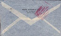 Argentina Via Aerea SHAW, STRUPP & Cia, BUENOS AIRES 1940 Cover Brief BASEL Switzerland (RED) Zensur Censor Markings - Argentina