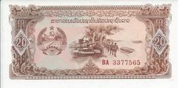 Laos  20  Kip   Nd(1988)   -- UNC -- - Laos
