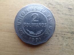 Bolivie  2  Bolivianos  1991  Km 206.1 - Bolivia
