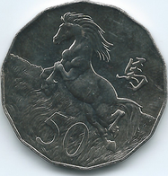Australia - Elizabeth II - 2014 - 50 Cents - Year Of The Horse - Monnaie Décimale (1966-...)