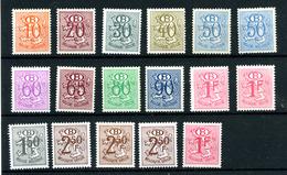 Belgique Service COB 47 à 56 Et 72 ** Dont Papiers Et 16 Dents - Service