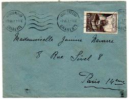 France N° 784 Y. Et T. Empreinte Krag Angouleme Gare Du 07/07/1947 Dernier Jour D'utilistion Pour Ce Tarif - Poststempel (Briefe)