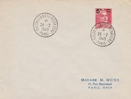 OBLIT. TEMPORAIRE SALON DES ARTS MÉNAGERS - PARIS 24.2.49 - Postmark Collection (Covers)