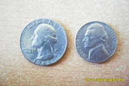 Deux Monnaies/USA/ Quarters Dollar De 1965 Et 5 Cent 1951 En TTB. - Emissioni Federali
