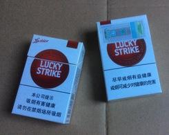 Boite (Vide) De Cigarettes Lucky Strike, Luckies (Provenance De Chine) - Contenitori Di Tabacco (vuoti)