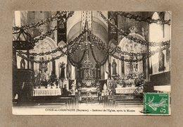 CPA - COSSé-en-CHAMPAGNE (53) - Aspect De L'intérieur De L'Eglise En 1912 - France