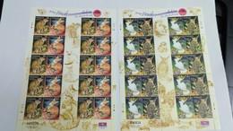 Malaysia 2002 The Tame And The Wild Malaysia Owl Cat Leopard Bird Prey Sheetlet  Sheet MNH - Malaysia (1964-...)