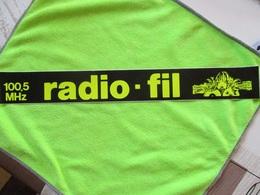 Autocollant RADIO FM FIL 100.5...37cm... Neuf Non Décollé - Pegatinas