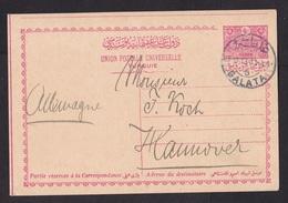 Turkey-Ottoman Empire: Stationery Postcard Galata To Germany, 1913, Rare Real Use (minor Crease) - 1858-1921 Ottomaanse Rijk