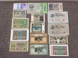 ALLEMAGNE: Bon Lot De 15 Billets De Banque. Date: 1910/ 1989. - Allemagne