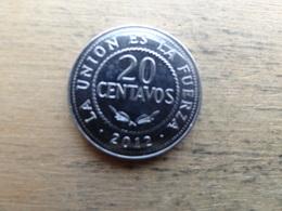 Bolivie  20 Centavos  2012  Km !!!! - Bolivia