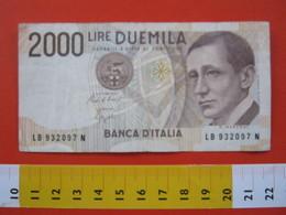 BN.01 BANCONOTA USATA VEDI FOTO - ITALIA 2000 LIRE GUGLIELMO MARCONI - [ 2] 1946-… : Républic