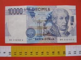 BN.01 BANCONOTA USATA VEDI FOTO - ITALIA 10000 LIRE ALESSANDRO VOLTA FISICO PILA COMO NOMINALE = 5 EURO - [ 2] 1946-… : Repubblica