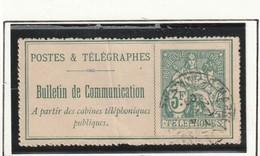 France Telegraphes Et Telephones N° 30 Oblitére Avec Un Pli Vertical Cote 920 - Télégraphes Et Téléphones