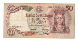 PORTUGAL»50 ESCUDOS»1964»PICK-168(A)»VF CONDITION»CIRCULATED - Portugal