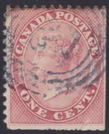 Canada      .     Scott     .    14b   .  12x11¾      .     O    .    Cancelled     .   /    .   Gebruikt - 1851-1902 Regering Van Victoria