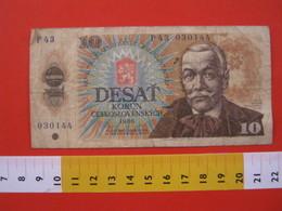 BN.01 BANCONOTA USATA VEDI FOTO - CESKOSLOVENSKYCH CECOSLOVACCHIA 1986 10 CORONE - Cecoslovacchia