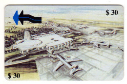 ZIMBABWE REF MV CARDS ZIM-11 30$ HARARE AIRPORT - Simbabwe
