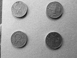 LOT 4 PIECES BULGARIE 50 STOTINKI  1999 - Bulgarie