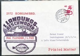 Schiffpost  BRD  1. Landungs-Geschwader MzL Flunder / L 760 - Schiffahrt