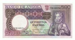 ANGOLA»500 ESCUDOS»1973 ISSUE»PICK-107»UNC - Angola