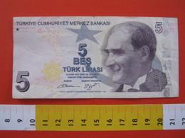 BN.01 BANCONOTA USATA VEDI FOTO - TURKIYE TIRCHIA 5 BES LIRASI LIRA - Turchia