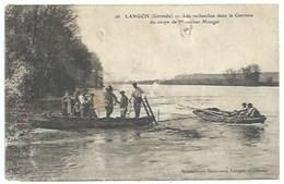 33 Langon - Les Recherches Dans La Garonne Du Corps De Mr Monget - Scaphandrier - Langon