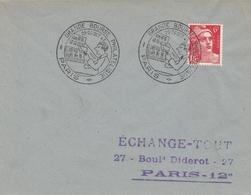 OBLIT. GF ILLUSTRÉE GRANDE BOURSE PHILATÉLIQUE PARIS 10/47 - Marcophilie (Lettres)