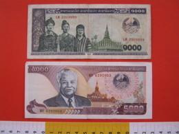 BN.01 BANCONOTA USATA VEDI FOTO - LAOS 1000 / 1996 + 5000 / 1997 - Laos