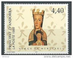 """Andorre YT 461 """" Vierge De Maritxell """" 1995 Neuf** - Andorre Français"""
