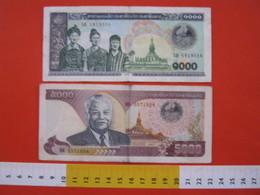BN.01 BANCONOTA USATA VEDI FOTO - LAOS 1000 / 1998 + 5000 / 1997 - Laos
