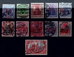 Allemagne - Deutsches Reich - 1889 -1915 - Michel - Lot Divers PERFORE -PERFIN - Allemagne