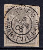 "BELLE OBLITERATION CAD "" JOURNAUX PP CHARLEVILLE "" De 1905 Sur SAGE 3C GRIS N° 85 (SUR FRAGMENT) - 1876-1898 Sage (Type II)"