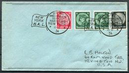 1934 Germany Deutsche Seepost Hamburg - Amerika Linie Ship Cover. New York USA - Deutschland