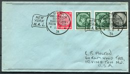 1934 Germany Deutsche Seepost Hamburg - Amerika Linie Ship Cover. New York USA - Briefe U. Dokumente