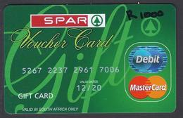 Voucher Card - Gift Card - SPAR - South Africa - Used  - - Gift Cards